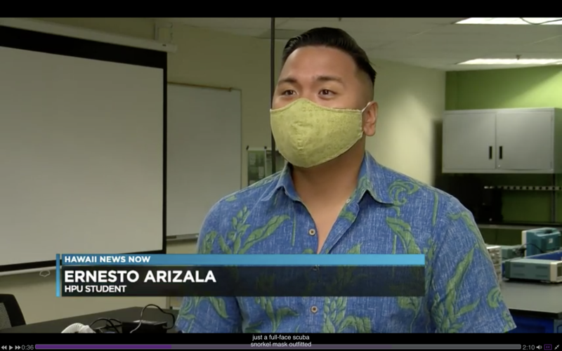 Screenshot of Ernesto Arizala being interviewed by Hawaii News Now