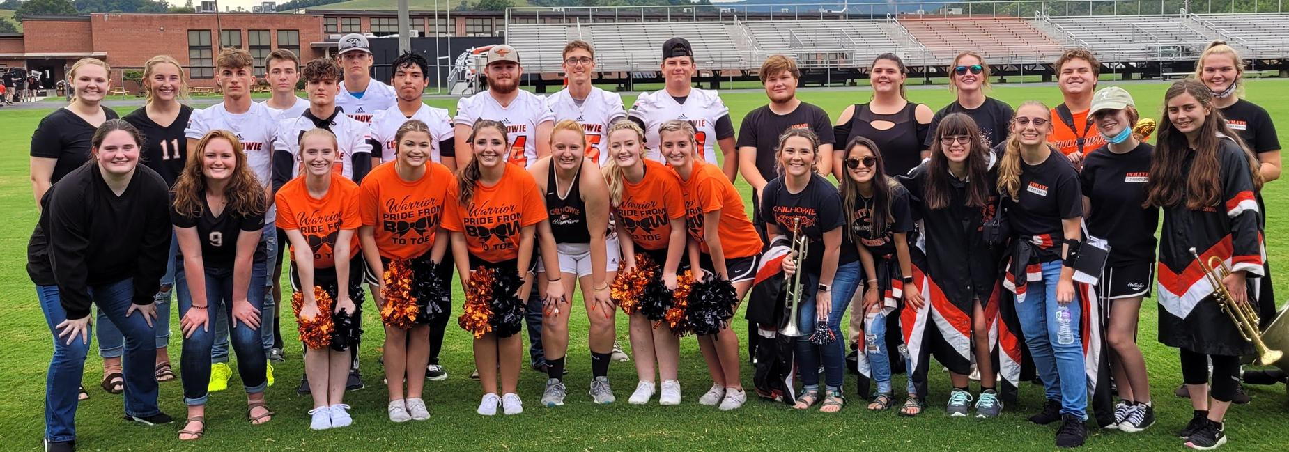 Chilhowie HS Seniors (volleyball, cheer, football, cross country,  band)