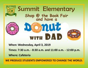 Summit host book fair and donuts with dads 2019