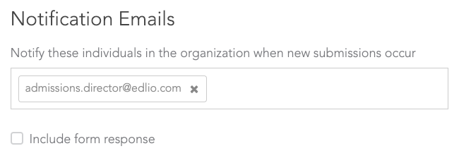 Notification Emails