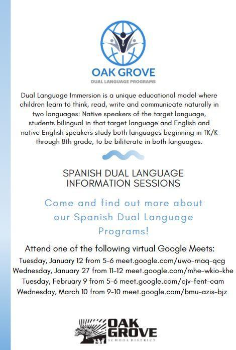 Dual Language Flyer