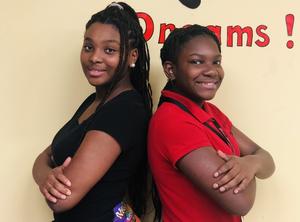 a photo of Destiny Jones, Baker Middle JAG President 2019-2020 and Tamara White, JAG President 2020-2021