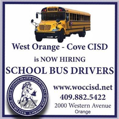 WOCCISD ad for hiring new bus drivers