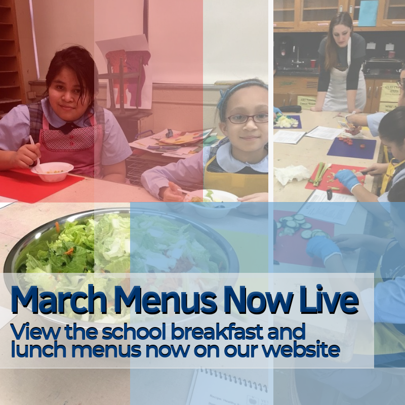 March Breakfast and Lunch Menus Featured Photo