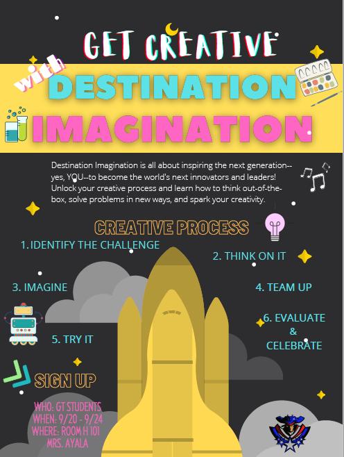 Destination Imagination Flyer to sign up.