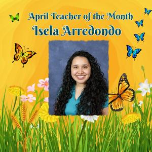 picture of teacher of the month