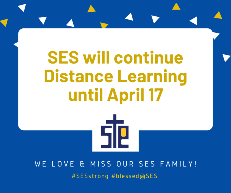 St. Elizabeth School to Close until April 17th. Distance Learning will take place until then. Stay Well SES families! Featured Photo