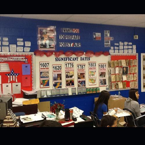 A wall filled with numerous anchor charts.
