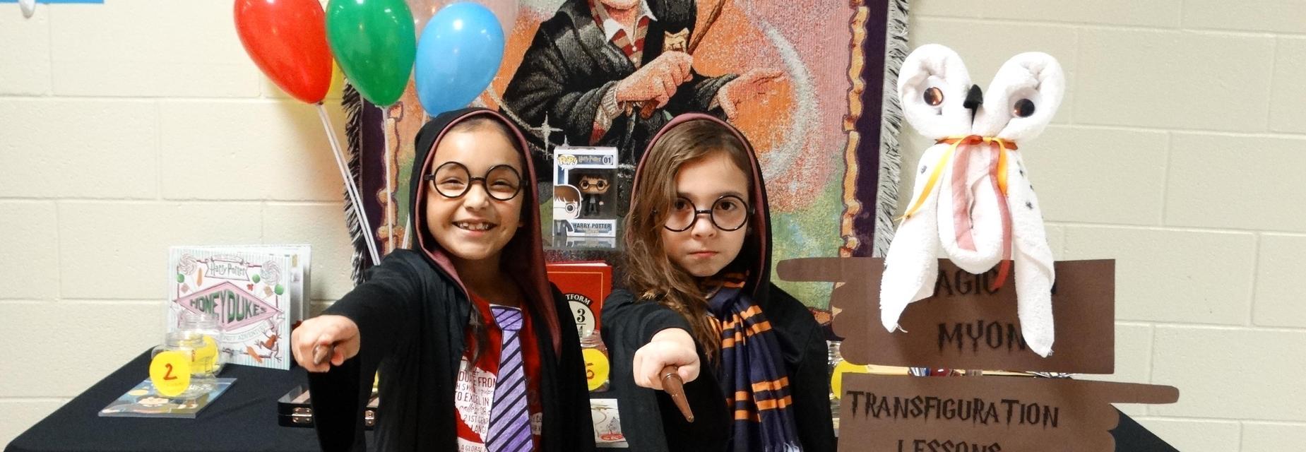Hogwarts students at literacy night