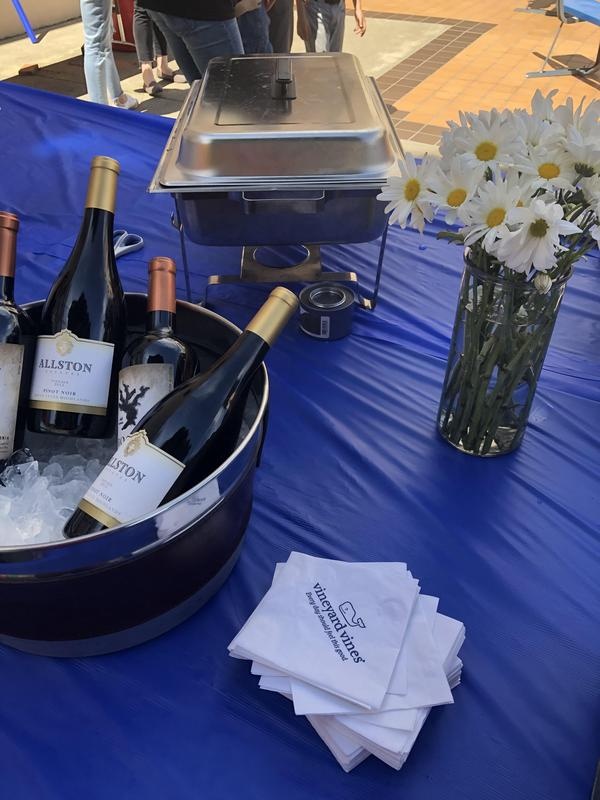 Food and wine at event