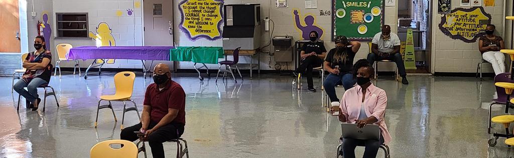 Teachers watching their distance