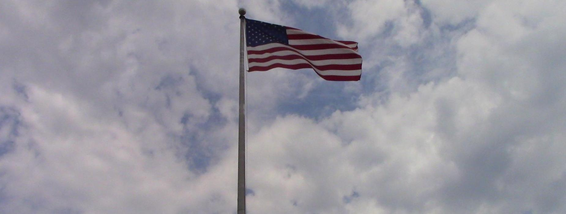 American Flag outside Central Office