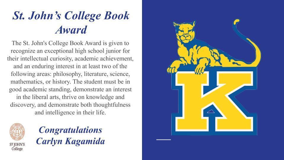 St johns book award