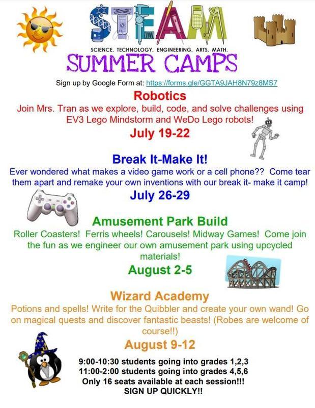 STEAM Camp Poster