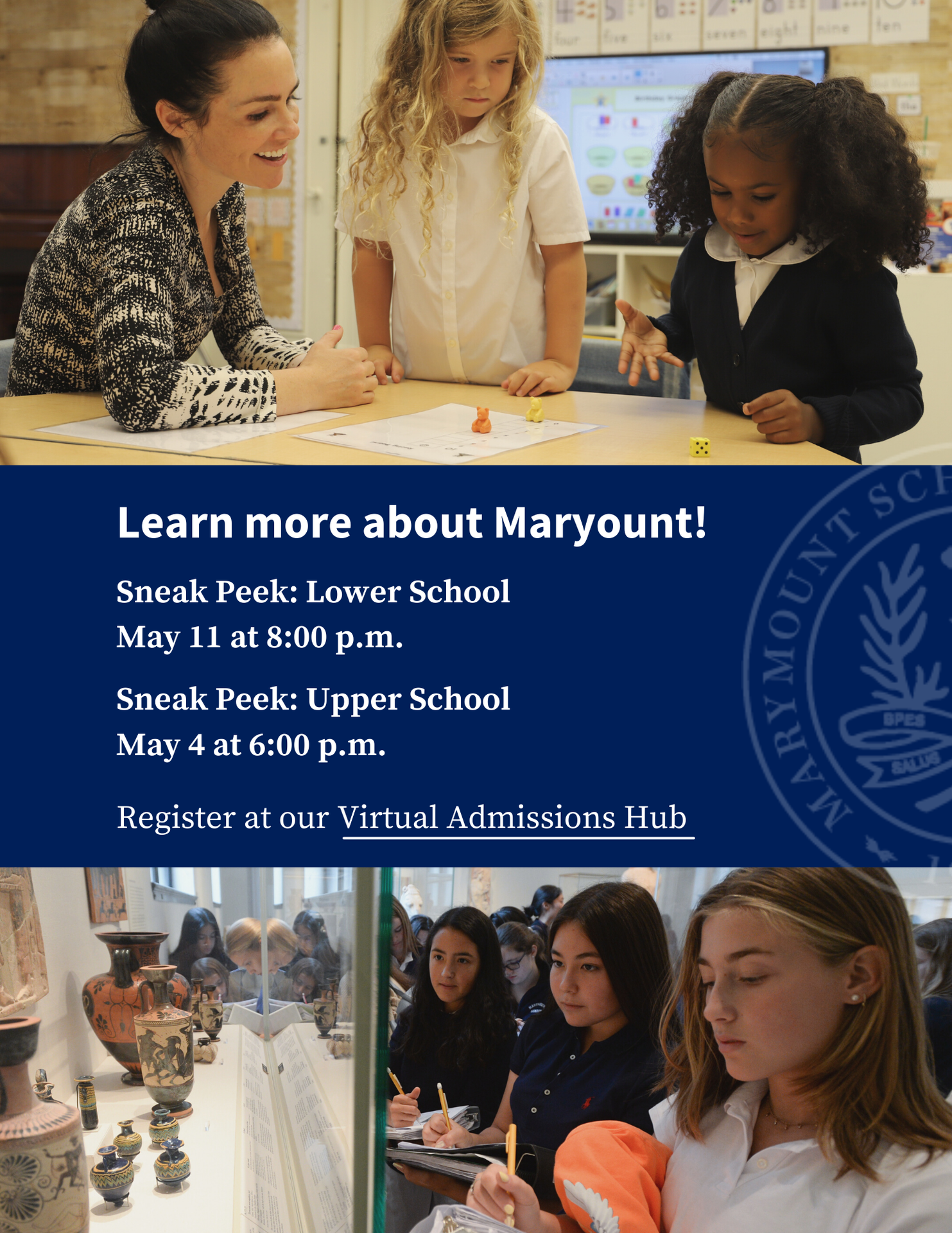 Marymount Spring OH information