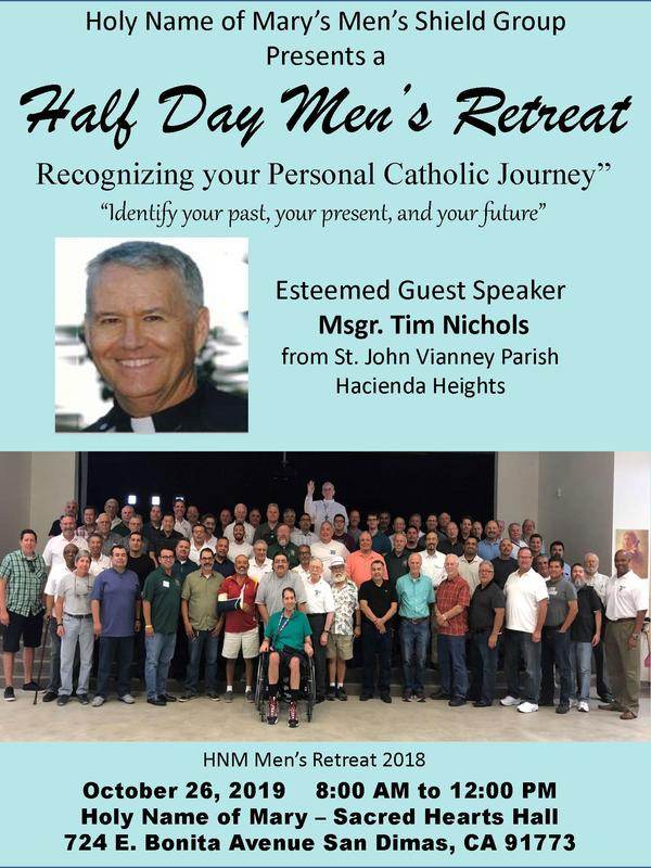 Holy Name of Mary Men's Retreat Featured Photo
