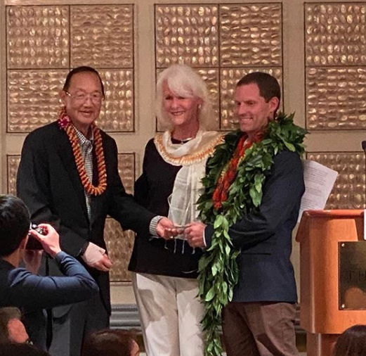 Mr. Jeremiah Brown being honored at the Pacific and Asian Affairs Council as the 2020 Global Educator Award on February 25, 2020