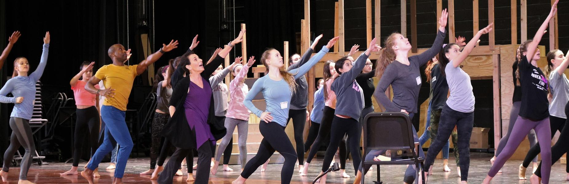 :  Edison students take part in a master class conducted by the Carolyn Dorfman Dance company on Feb. 4, exploring ways to express themselves through movement.