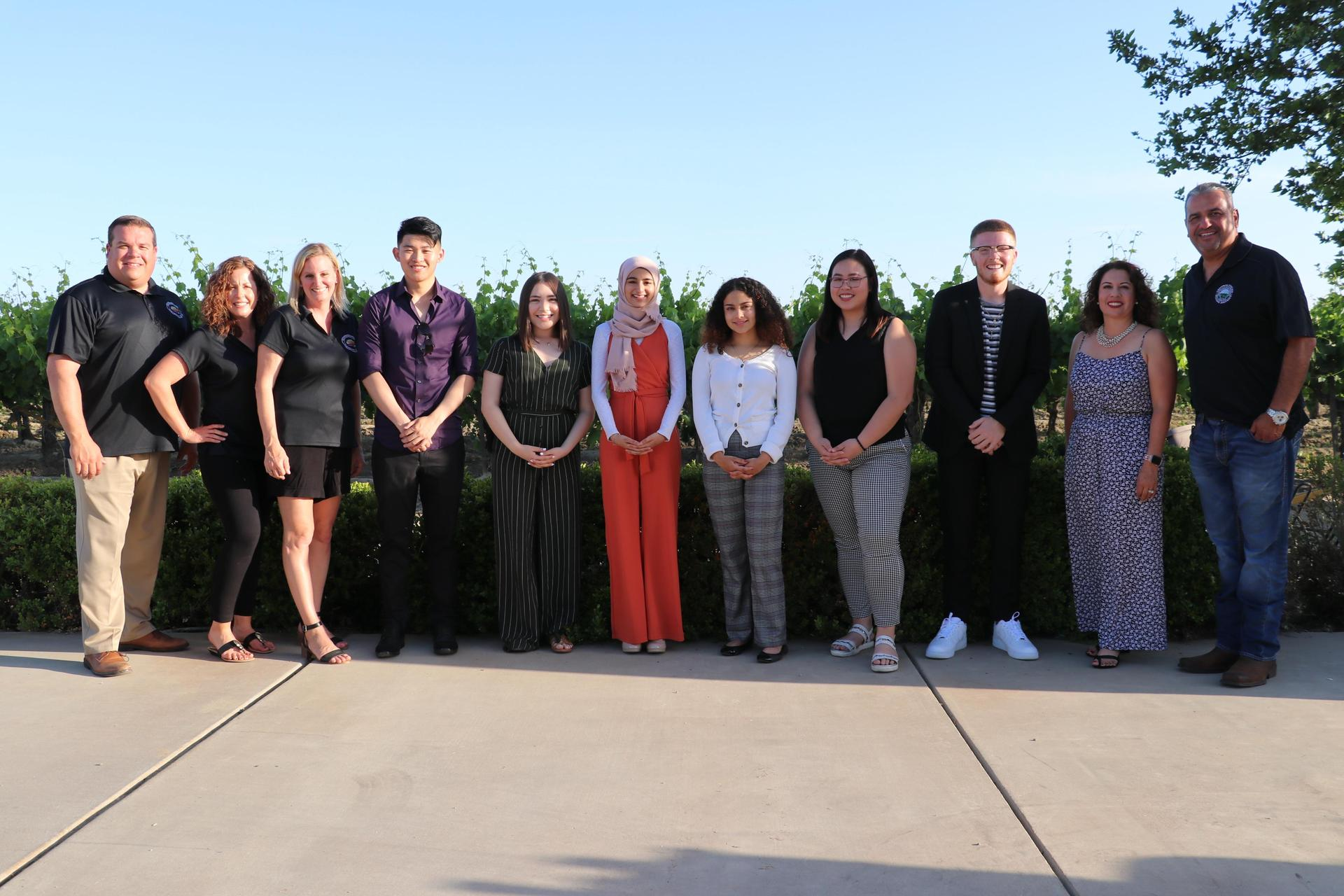 Janessa Ramirez Scholarship Recipients and Foundation for Central Schools Board Members