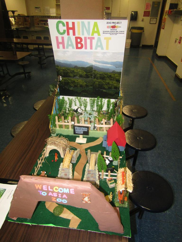 diorama of the China Habitat