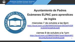 Parent Townhall - ELPAC/Ayuntamiento de Padres Exámenes ELPAC