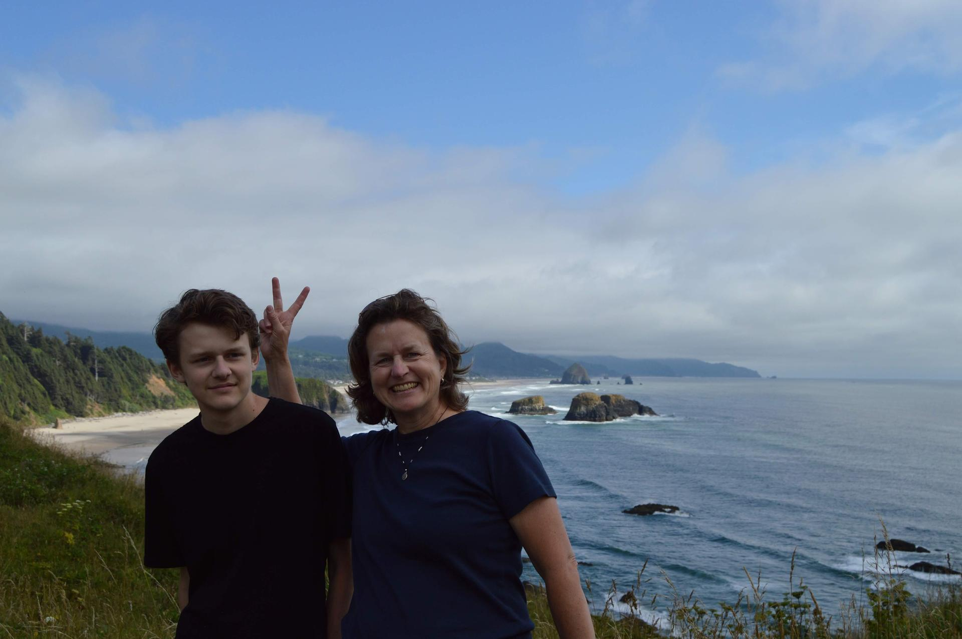 Josh & I at Cannon Beach, OR