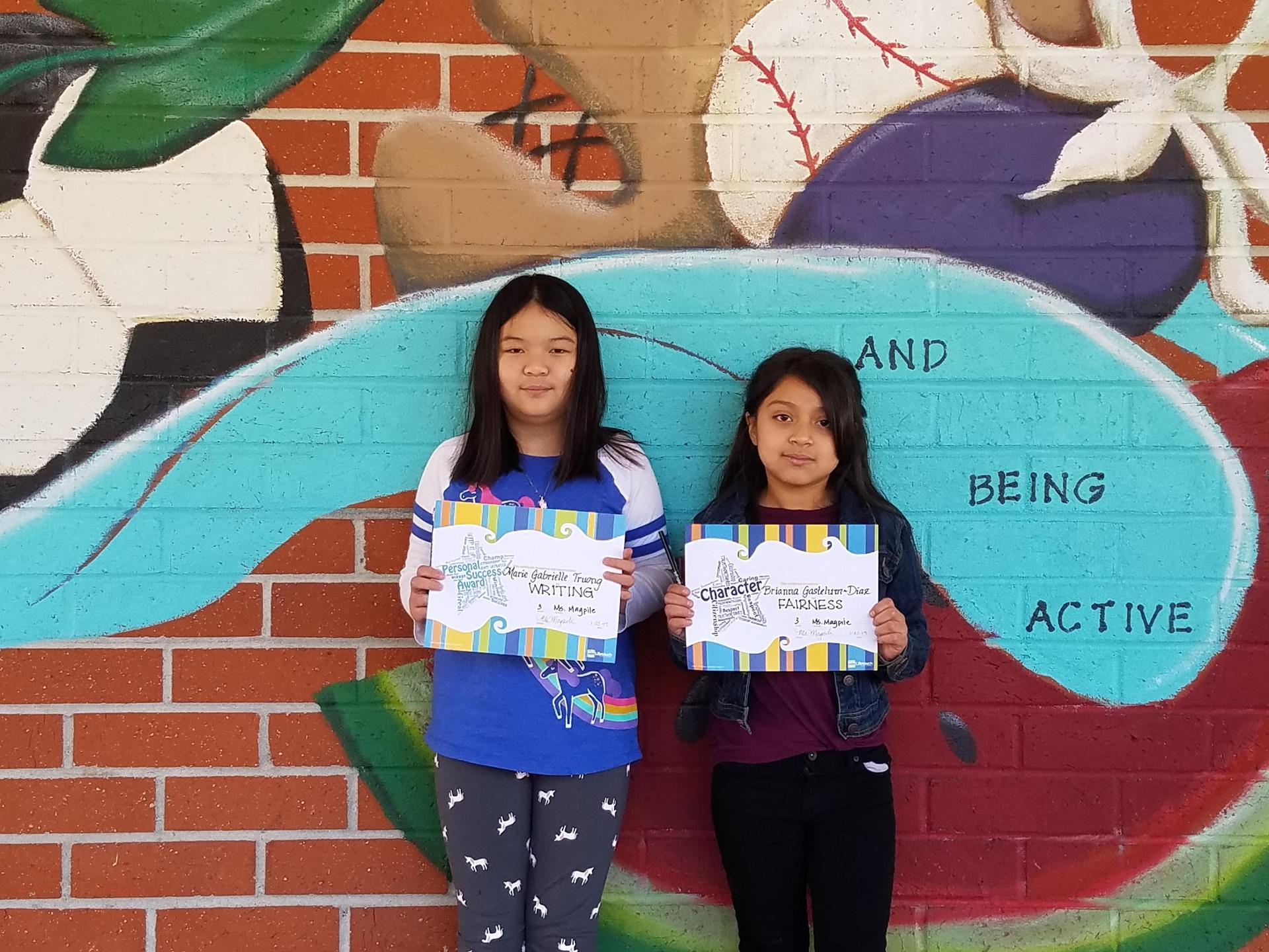 Ms. Magpile's 3rd Grade Winners