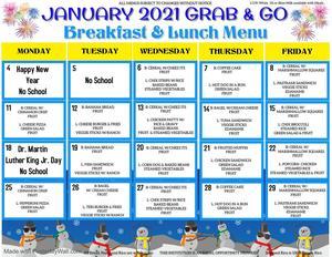 January Grab & Go Menu