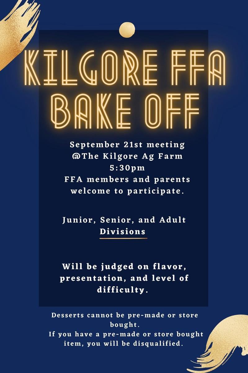 Kilgore FFA Bake Off Featured Photo