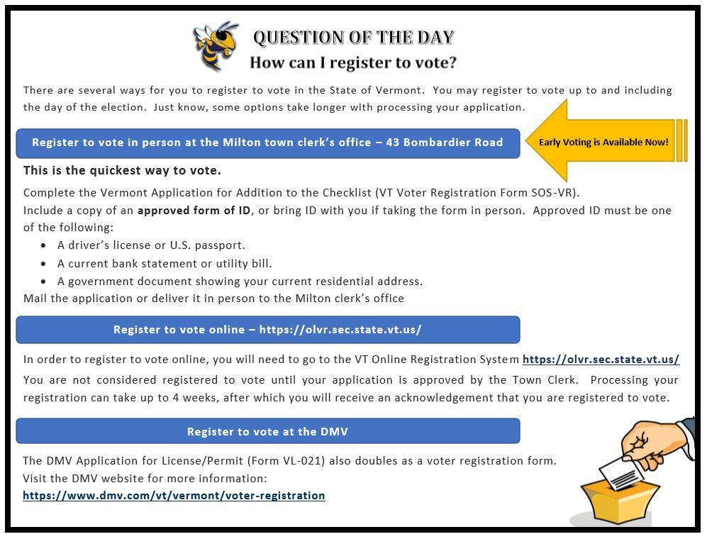 Question of the day - How can I register to vote?