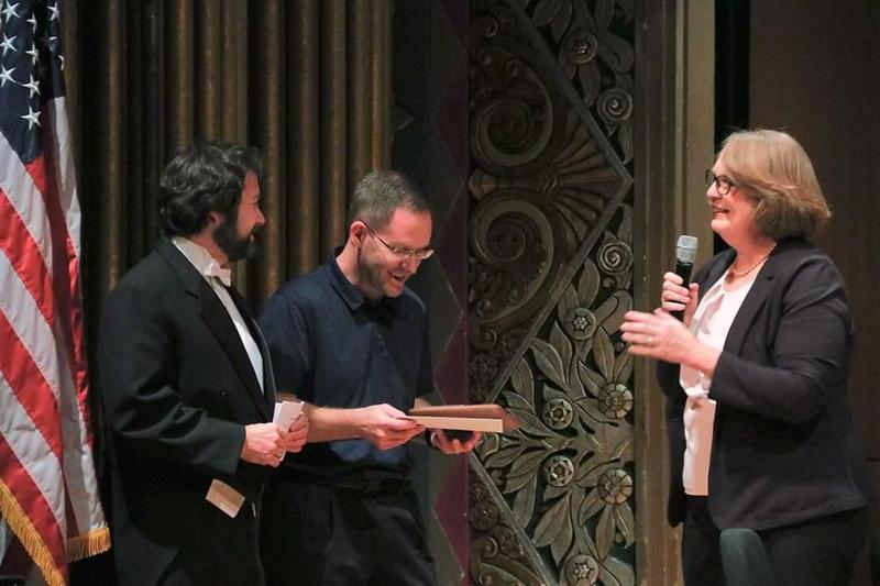 Craig Johnson receiving an award picture #3