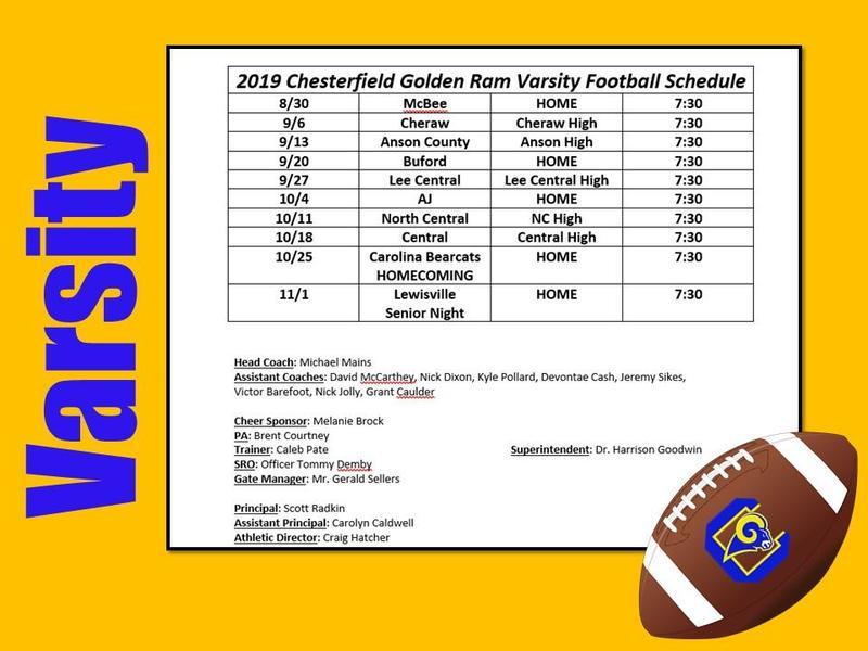 2019-20 Varsity Football Schedule Featured Photo