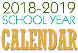 2018.2019 school calendar