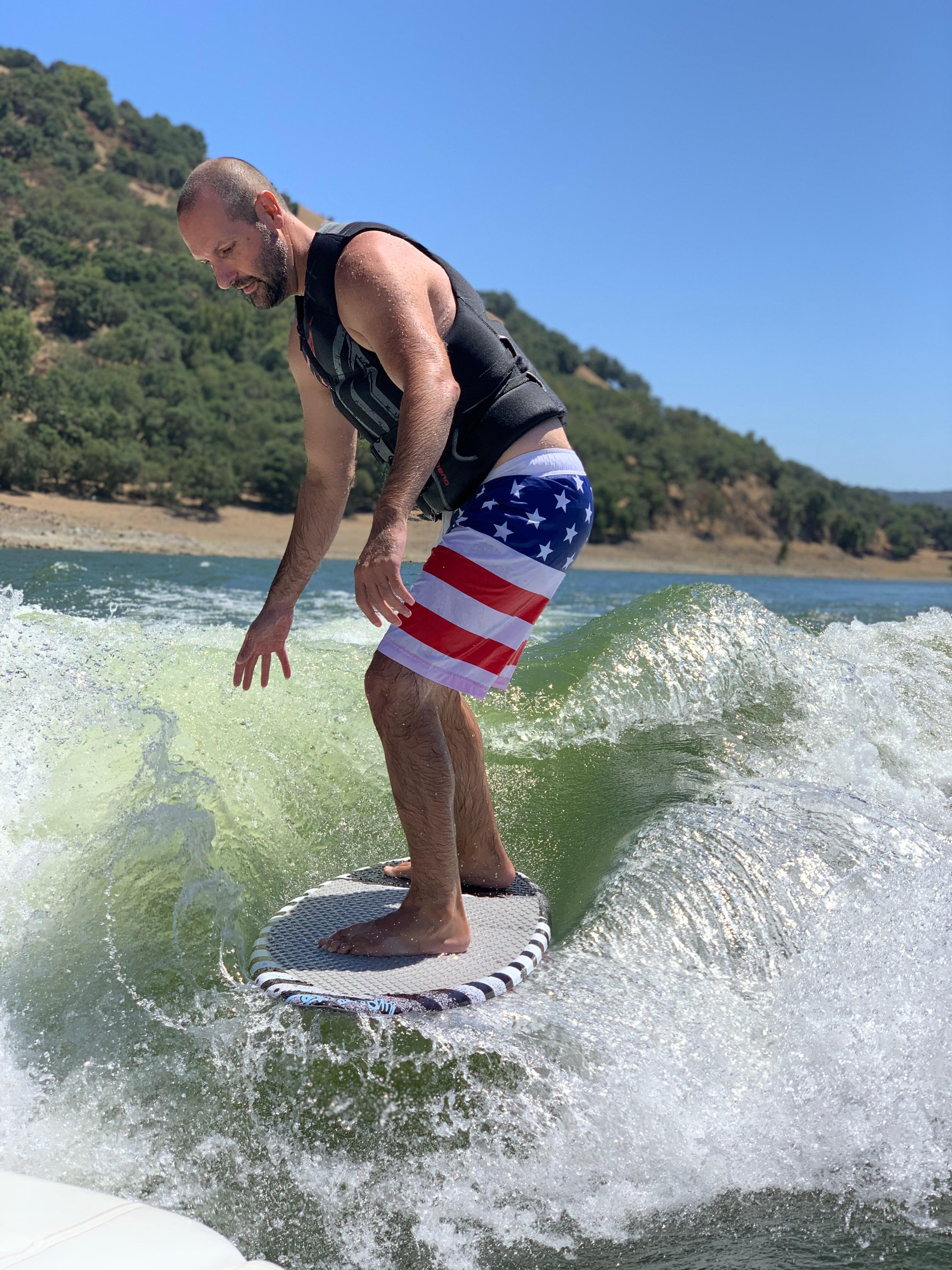Mr. W wake surfing