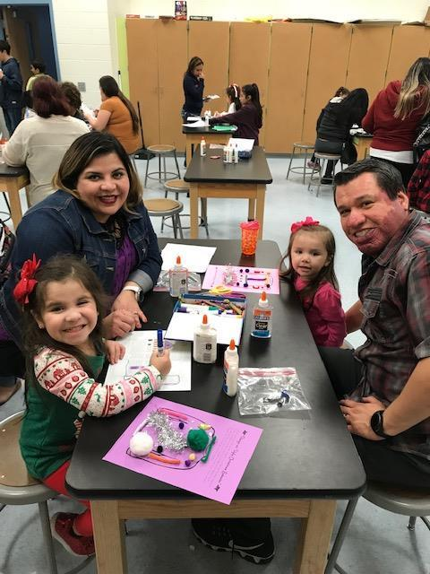 Families creating  holiday memories