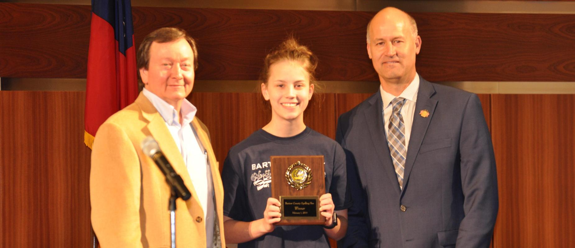Addison Payne wins district spelling bee