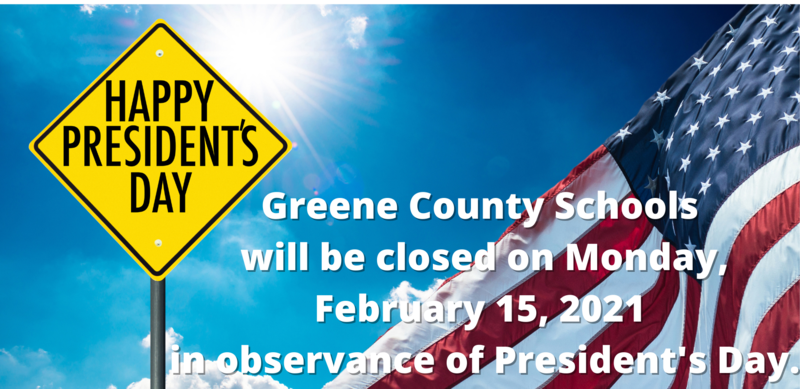 GCS Closed Monday, Feb. 15, 2021