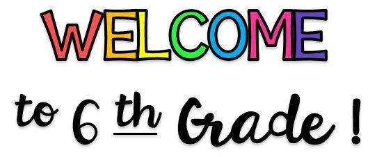 Image result for Welcome to 6th Grade Clipart