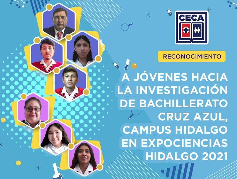 A JÓVENES HACIA LA INVESTIGACIÓN DE BACHILLERATO CRUZ AZUL, CAMPUS HIDALGO EN EXPOCIENCIAS HIDALGO 2021 Featured Photo