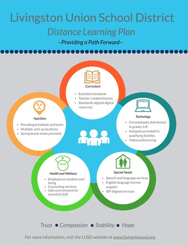 Distance Learning Plan Infographic