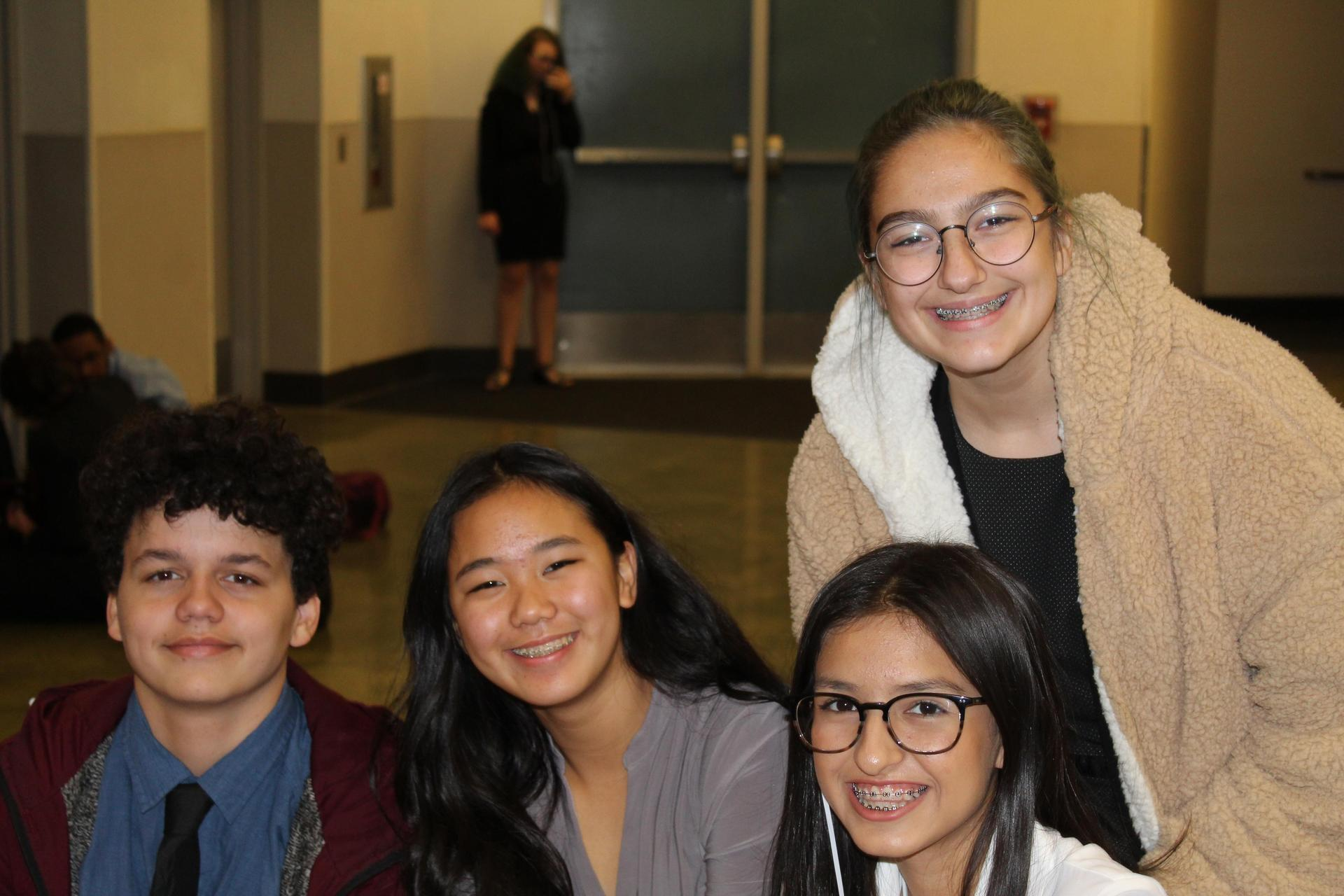 Students at the Speech and Debate competition in Clovis.