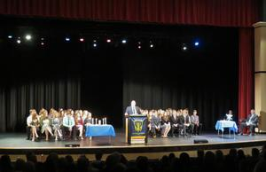 TKHS students are inducted into the National Honor Society.