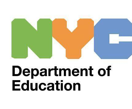 NYC DOE LoGO N in green, Y in orange, C in blue