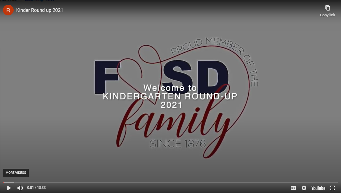 Link to FVSD Kindergarten Round-up Video