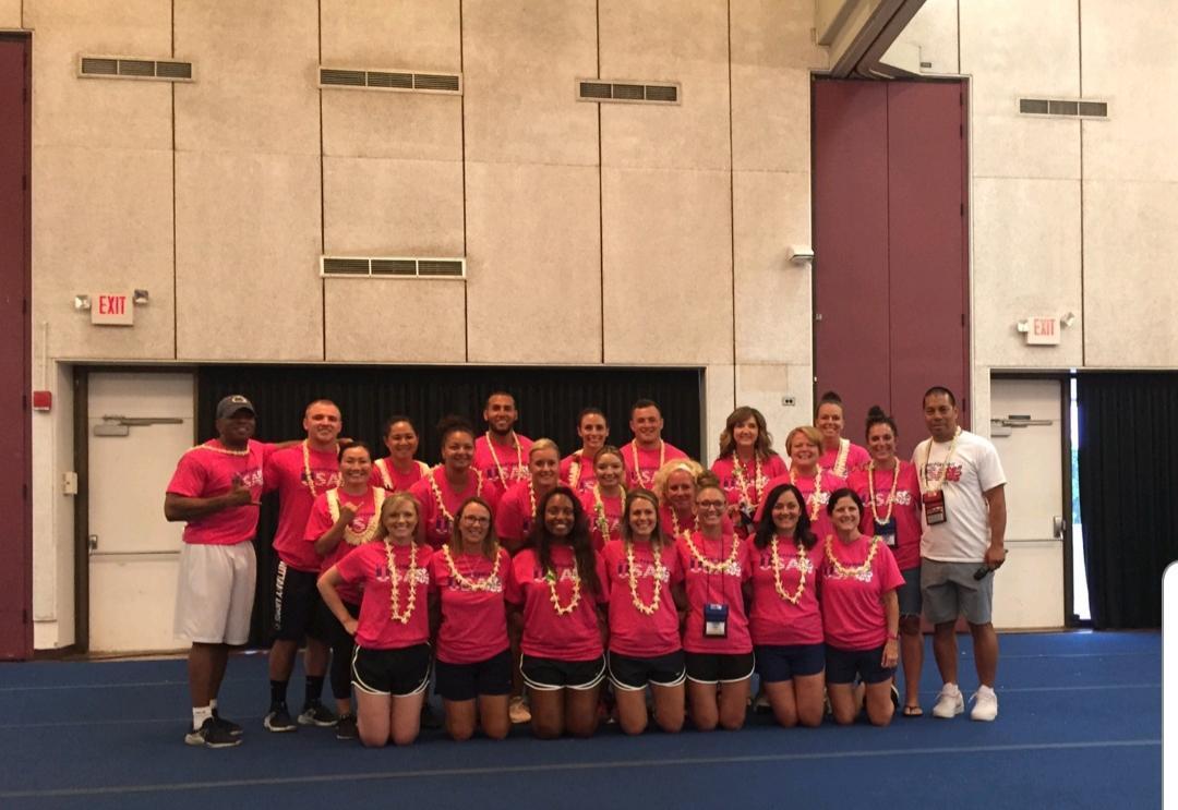 Cheerleaders in Hawaii