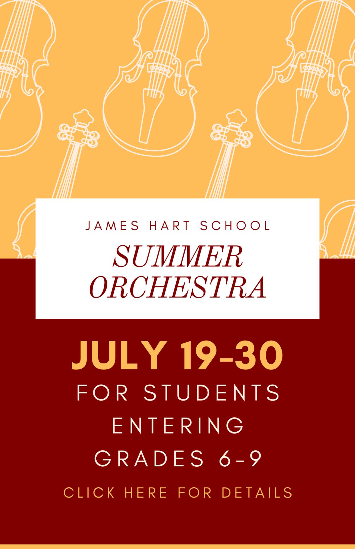 James Hart summer orchestra