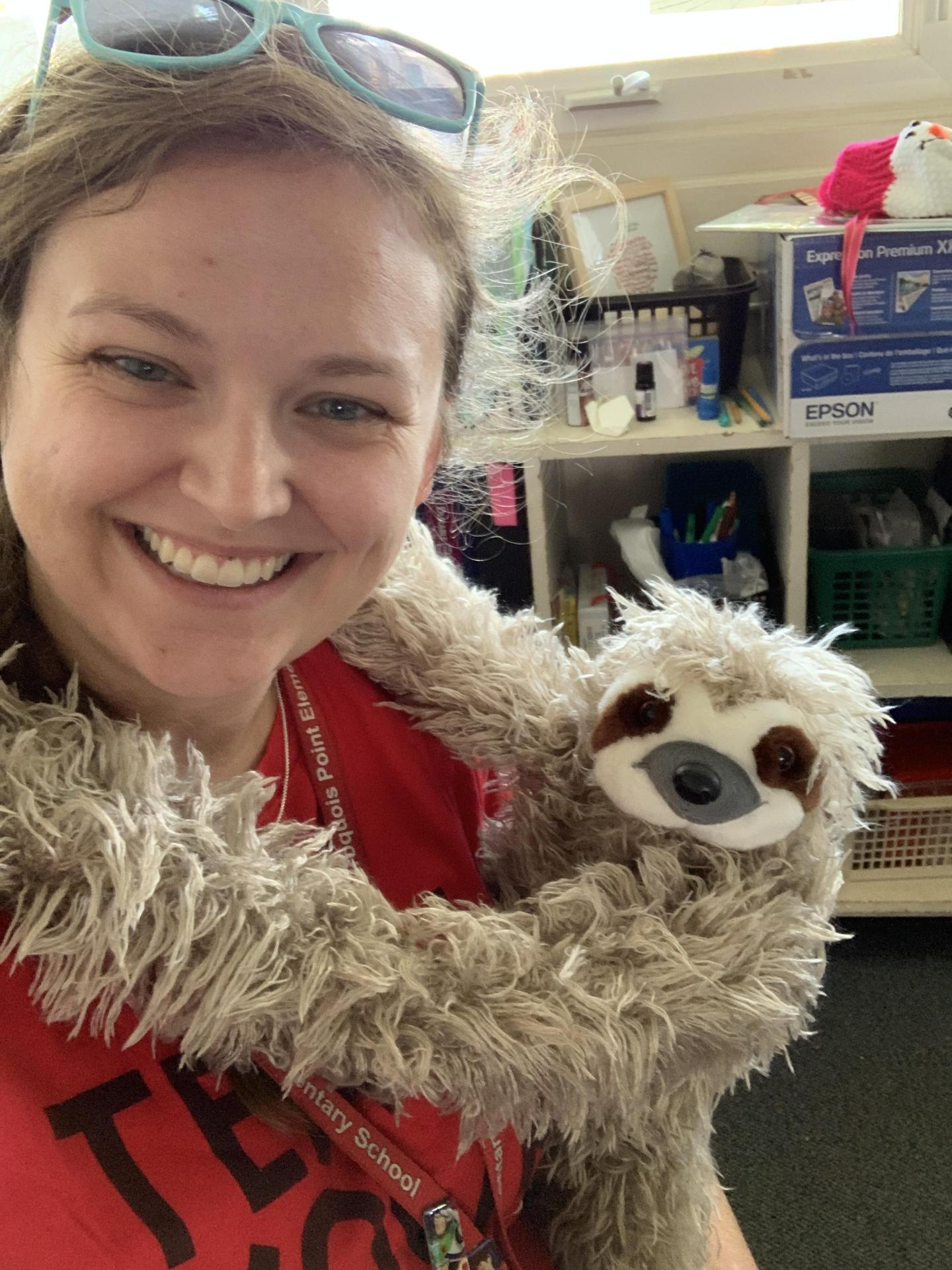 Miss S and Sid the Sloth