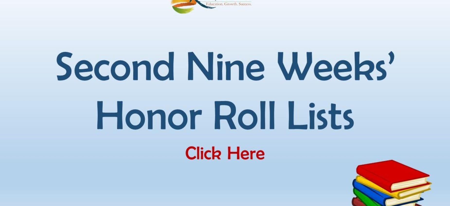 2nd Nine Weeks' Honor Roll Lists