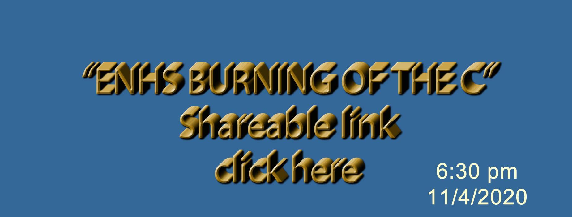 burning of the c