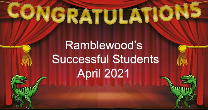 Congratulations Ramblewood Successful Students
